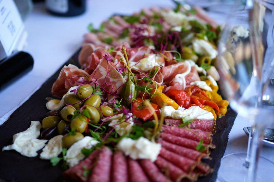 Cold meats at a wedding at Cissbury Barns.