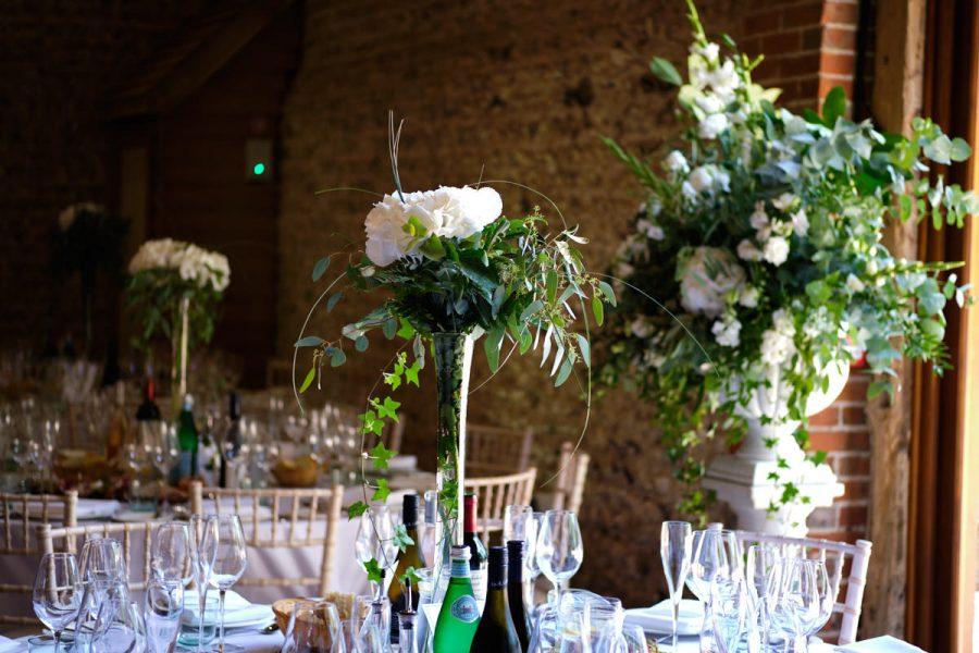 Wedding flowers at Cissbury Barns.