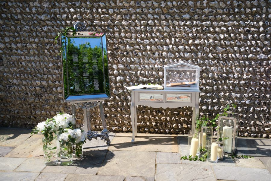 The seating plan for a wedding at Cissbury Barns in Sussex.