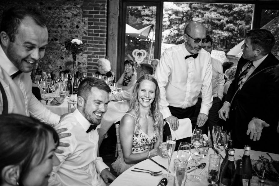 Guests at a beautiful summer wedding in Sussex.