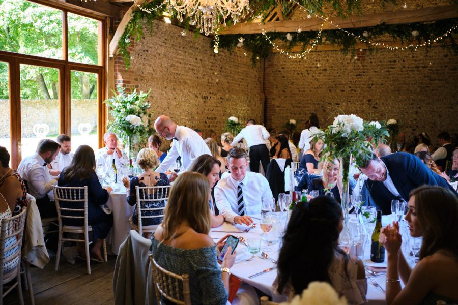 A summer wedding at Cissbury Barns. Photographed by Sussex wedding photographer Neil Walker.