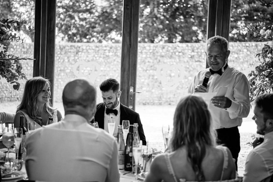 Father of the bride's speech.