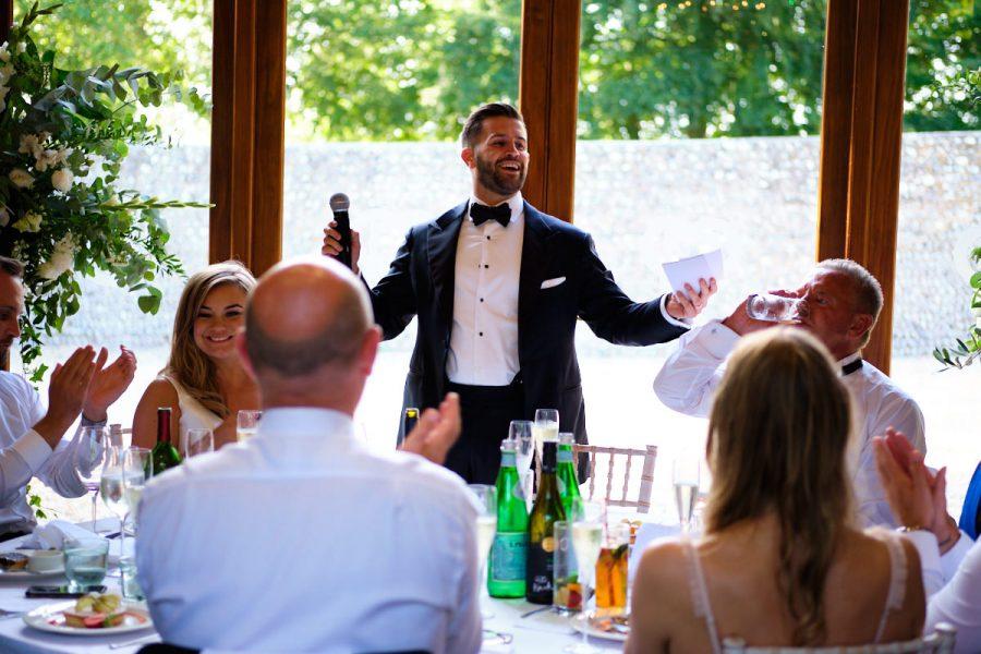 The groom's speech.