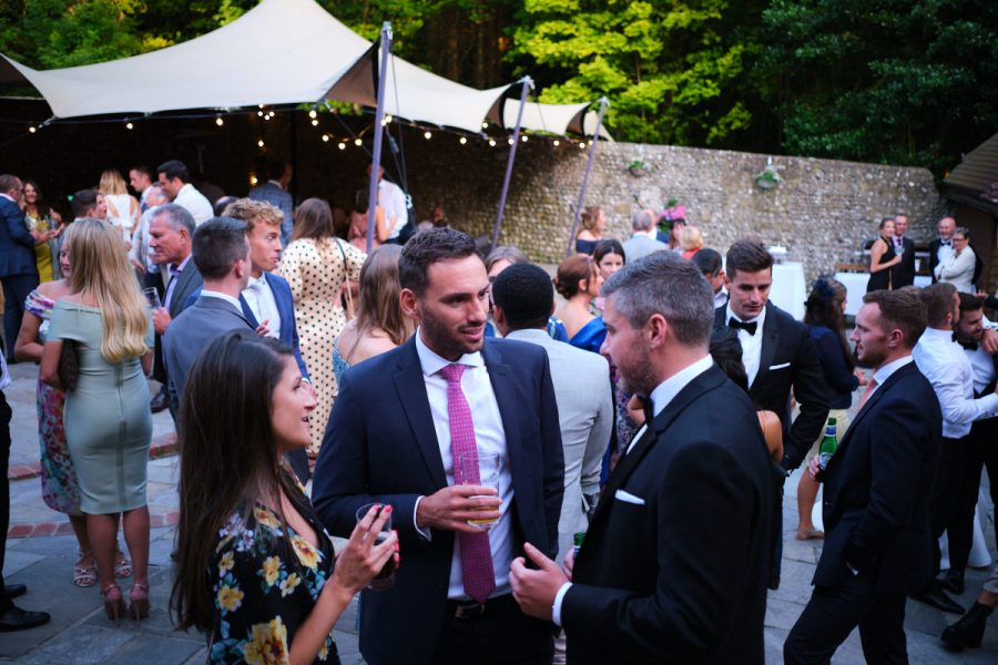 guests at a wedding in Sussex