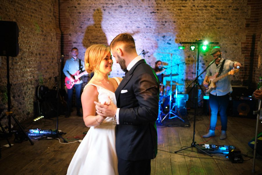 The bride and groom's first dance, photographed by Sussex wedding photographer Neil Walker.