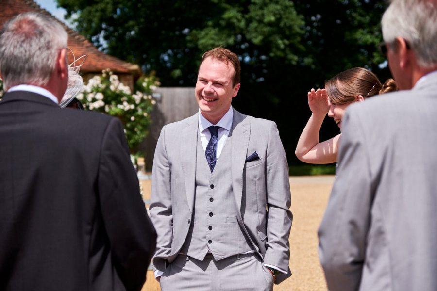 A guest at a wedding
