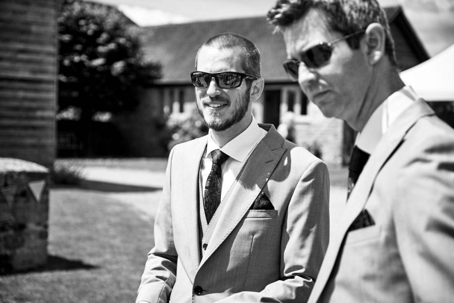 The groom at a wedding in Sussex