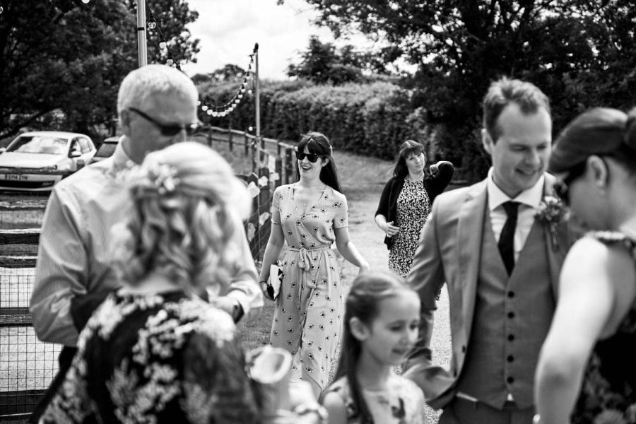 Guests at a Sussex wedding