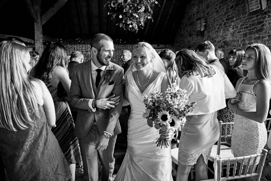 The bride and groom's recessional