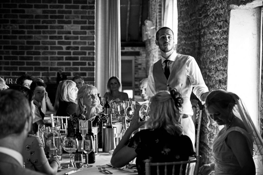 The groom's speech at his wedding at Grittenham Barn