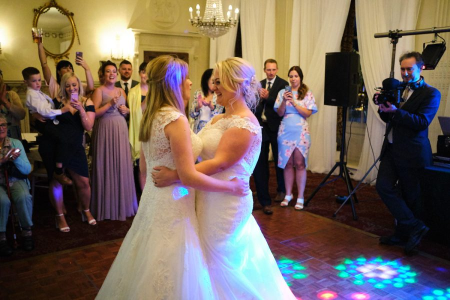 The first dance at a wedding at Buxted Park Hotel.