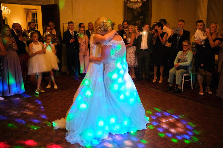 The first dance at a wedding at Buxted Park Hotel in East Sussex.